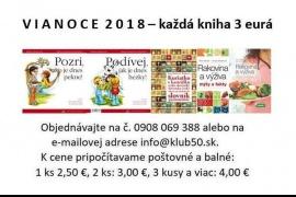 Vianoce 2018. Knihy za tri €